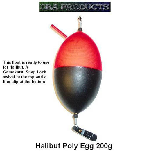200g Poly Egg Halibut Float